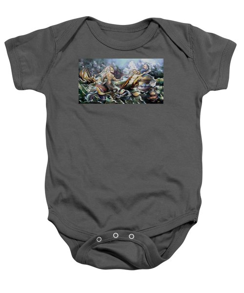 Something Fowl Afloat Redux Baby Onesie by Patrick Anthony Pierson