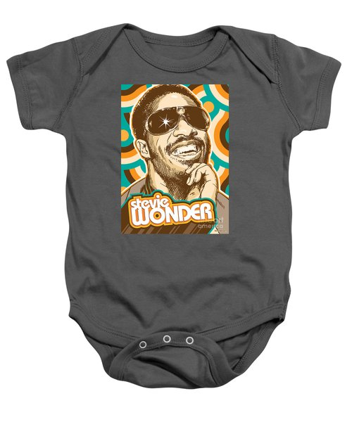 Stevie Wonder Pop Art Baby Onesie by Jim Zahniser