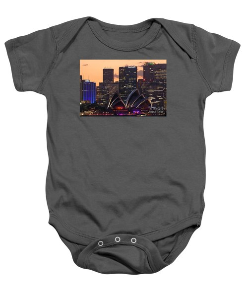 Sydney At Sunset Baby Onesie by Matteo Colombo