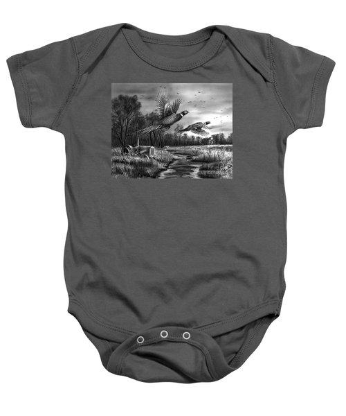 Taking Flight  Baby Onesie by Peter Piatt