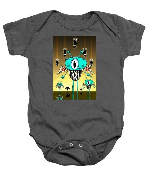 Team Alien Baby Onesie by Johan Lilja