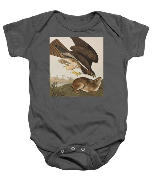 The Common Buzzard Baby Onesie by John James Audubon