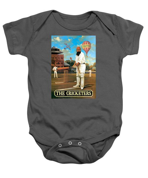 The Cricketers Baby Onesie by Peter Green