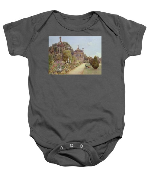 The Gardens At Montacute In Somerset Baby Onesie by Ernest Arthur Rowe