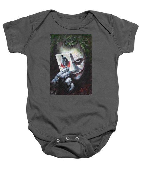 The Joker Heath Ledger  Baby Onesie by Viola El