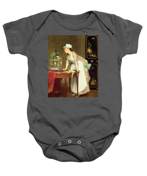 The Yellow Canaries Baby Onesie by Joseph Caraud