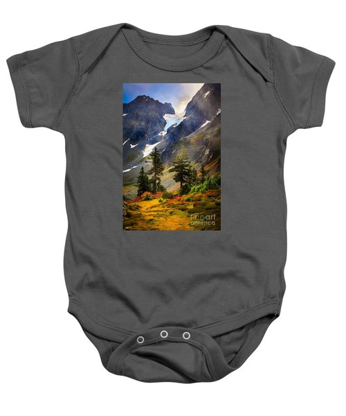 Top Of Cascade Pass Baby Onesie by Inge Johnsson