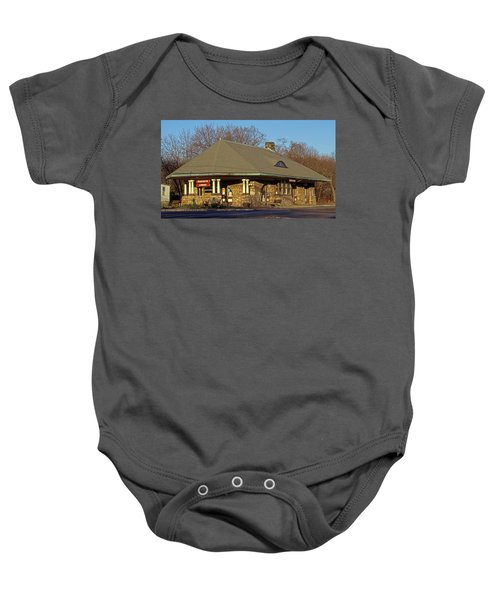 Train Stations And Libraries Baby Onesie by Skip Willits