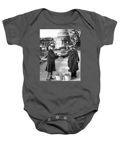 Unemployed Man Sells Apples Baby Onesie by Underwood Archives