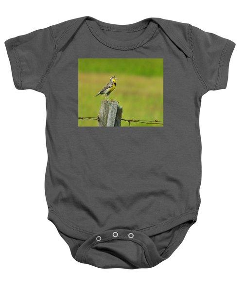 Western Meadowlark Baby Onesie by Tony Beck
