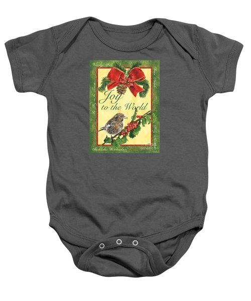 Xmas Around The World 2 Baby Onesie by Debbie DeWitt
