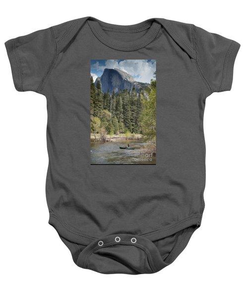 Yosemite National Park. Half Dome Baby Onesie by Juli Scalzi