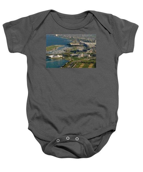 Chicagos Lakefront Museum Campus Baby Onesie by Steve Gadomski