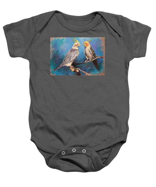 Coctaiel Parrots Baby Onesie by Ylli Haruni
