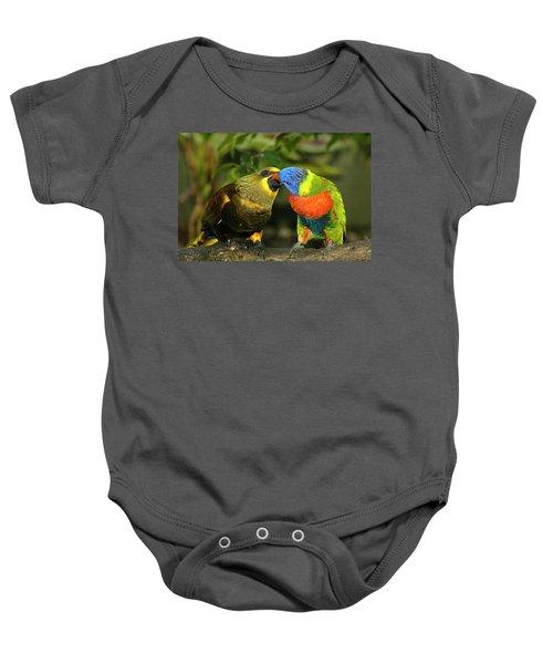Kissing Birds Baby Onesie by Carolyn Marshall