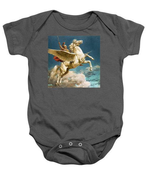 Pegasus The Winged Horse Baby Onesie by Fortunino Matania