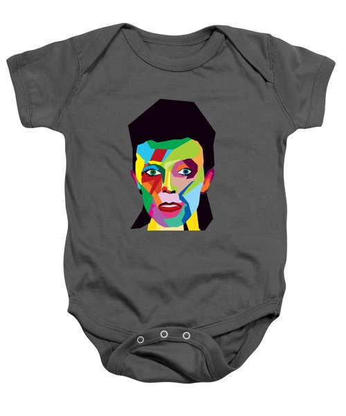David Bowie Baby Onesie by Mark Ashkenazi