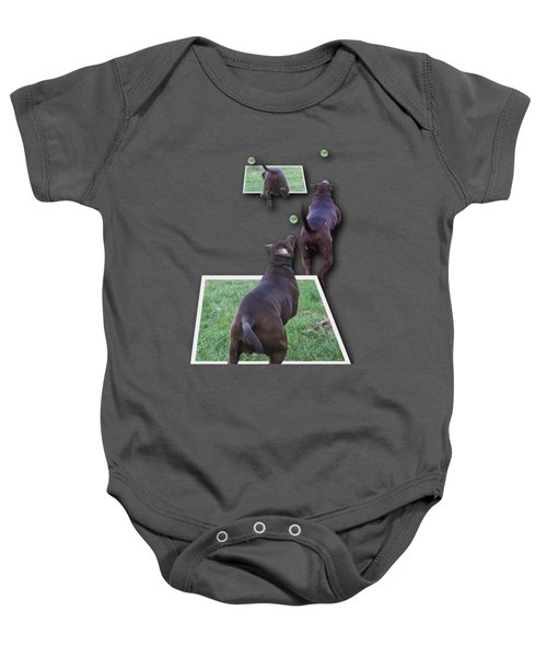Keep Your Eye On The Ball Baby Onesie by Roger Wedegis