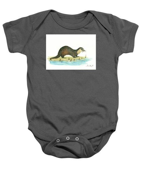 Otter Baby Onesie by Juan Bosco