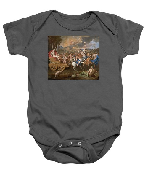 The Triumph Of Bacchus Baby Onesie by Nicolas Poussin