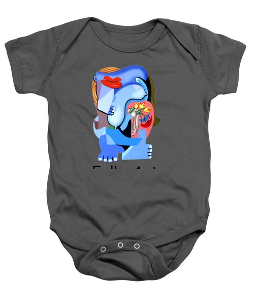 Blue Nude With Tulips Baby Onesie by Anthony Falbo
