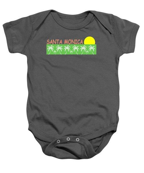 Santa Monica Baby Onesie by Brian's T-shirts
