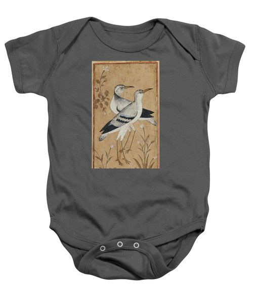 A Pair Of Lapwings Baby Onesie by MotionAge Designs