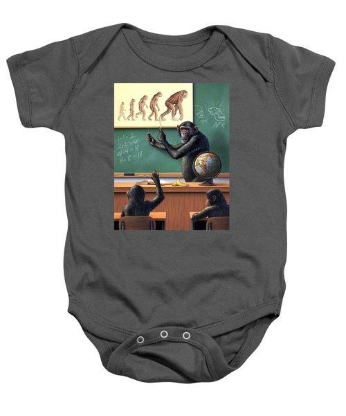 A Specious Origin Baby Onesie by Jerry LoFaro