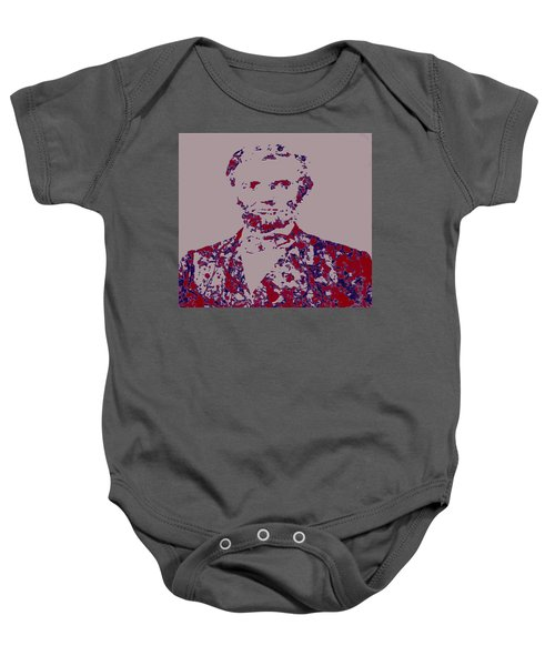 Abraham Lincoln 4c Baby Onesie by Brian Reaves