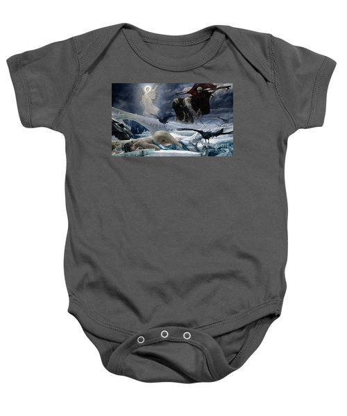 Ahasuerus At The End Of The World Baby Onesie by Adolph Hiremy Hirschl