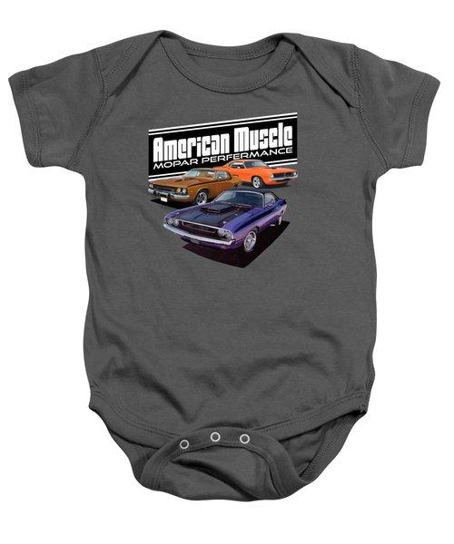 American Mopar Muscle Baby Onesie by Paul Kuras