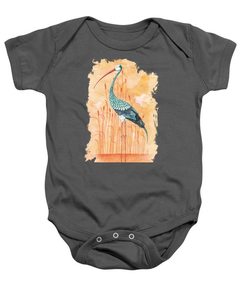 An Exotic Stork Baby Onesie by Timmy Timone
