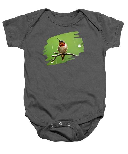 Another Rainy Day Hummingbird Baby Onesie by Christina Rollo