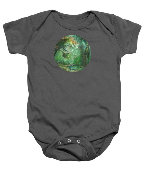 Rainy Woods Baby Onesie by Mary Wolf