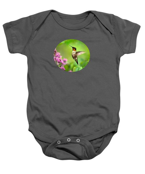 Welcome Home Hummingbird Baby Onesie by Christina Rollo