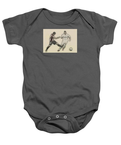 Athletic Club  Vs Real Madrid Baby Onesie by Don Kuing