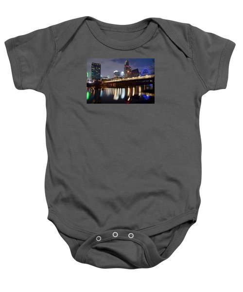 Austin From Below Baby Onesie by Frozen in Time Fine Art Photography
