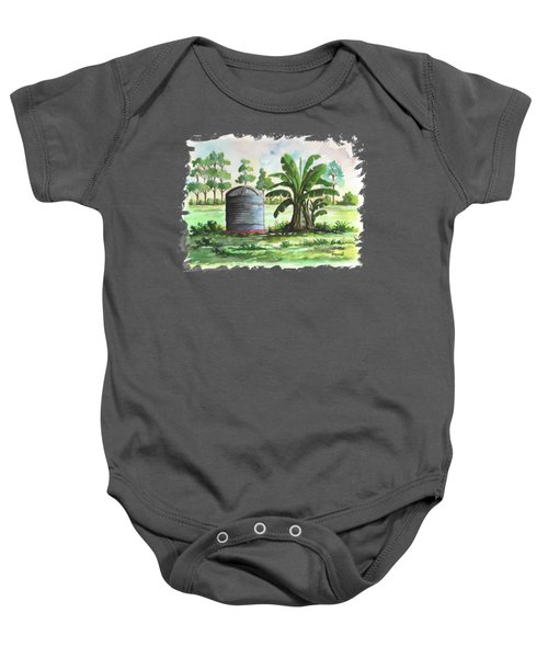 Banana And Tank Baby Onesie by Anthony Mwangi