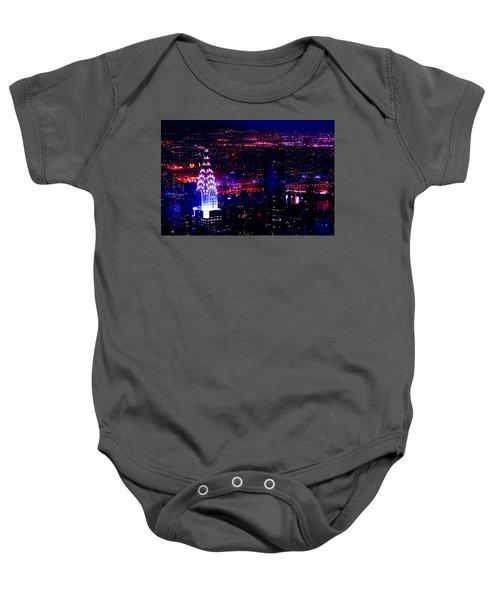 Beautiful Manhattan Skyline Baby Onesie by Az Jackson