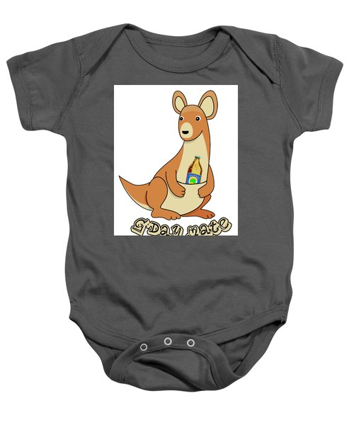 Beer In A Pouch Baby Onesie by Peter Stevenson