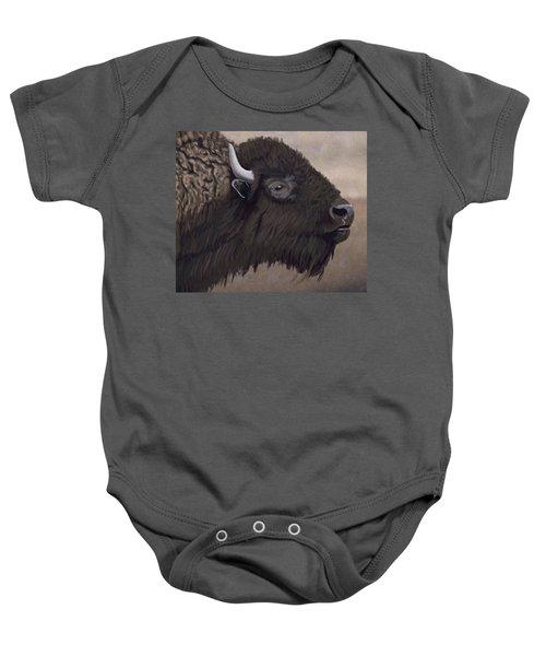 Bison Baby Onesie by Jacqueline Barden