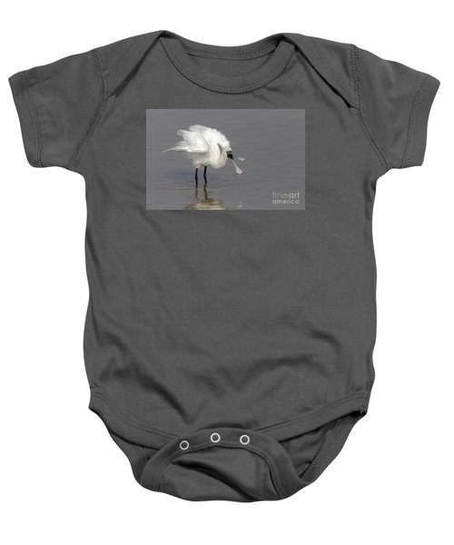 Black-faced Spoonbill Baby Onesie by Martin Hale/FLPA