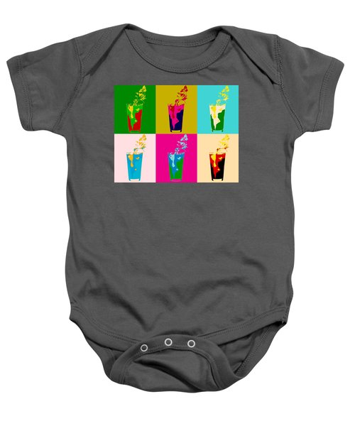 Bloody Mary Pop Art Panels Baby Onesie by Dan Sproul