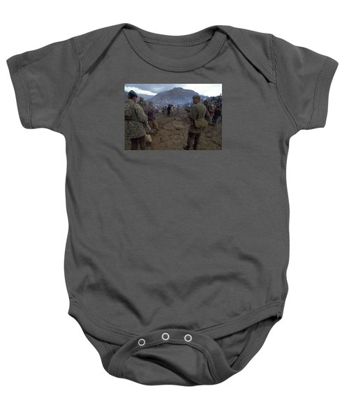 Baby Onesie featuring the photograph Border Control by Travel Pics
