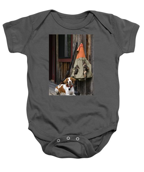 Brittany And Woodcock - D002308 Baby Onesie by Daniel Dempster