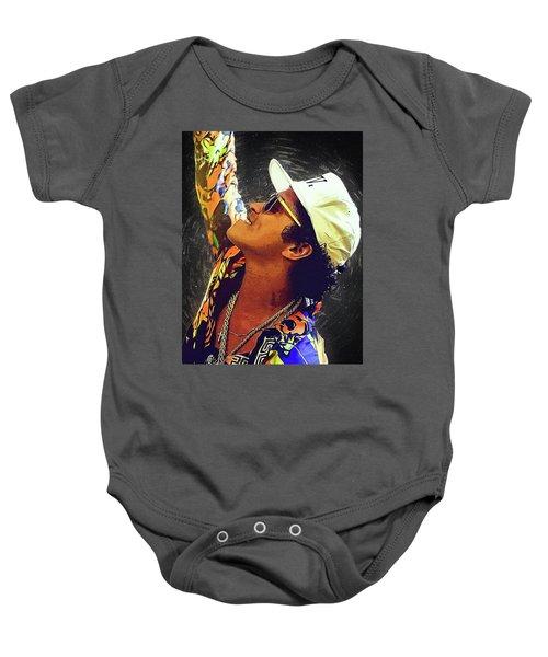 Bruno Mars Baby Onesie by Semih Yurdabak