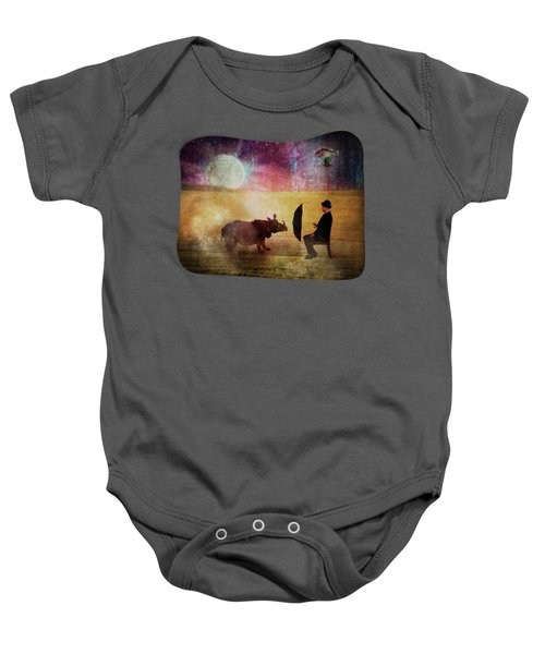 By The Light Of The Moon Baby Onesie by Terry Fleckney