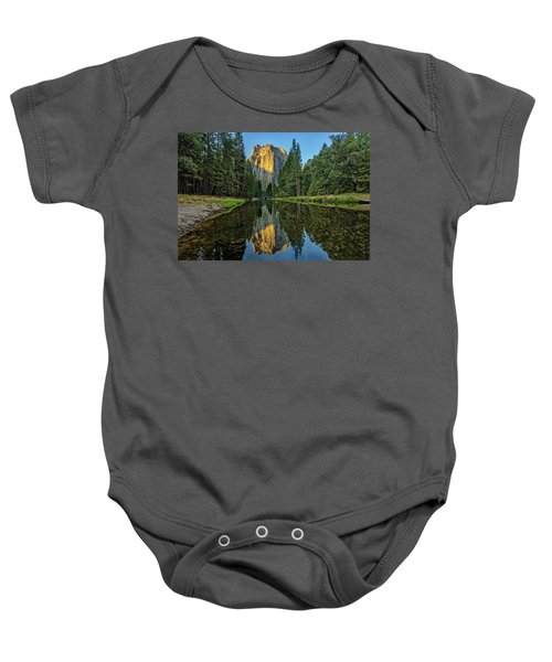 Cathedral Rocks Morning Baby Onesie by Peter Tellone