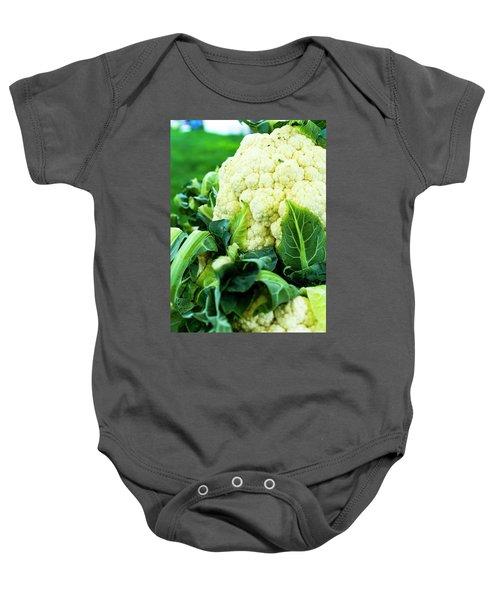 Cauliflower Head Baby Onesie by Teri Virbickis