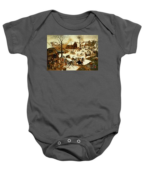 Census At Bethlehem Baby Onesie by Pieter the Elder Bruegel